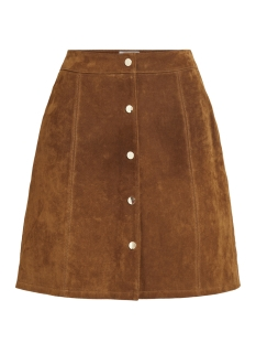 Vila Rok VIBOTINI HW SUEDE SKIRT 14050397 Oak Brown