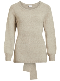 Vila Trui VIRIL KNIT TIE L/S TOP 14050299 Natural Melange