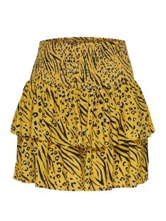 onlmuni mini skirt wvn 15178573 only rok yolk yellow/leo/zebra