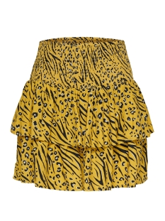 Only Rok onlMUNI MINI SKIRT WVN 15178573 Yolk Yellow/LEO/ZEBRA