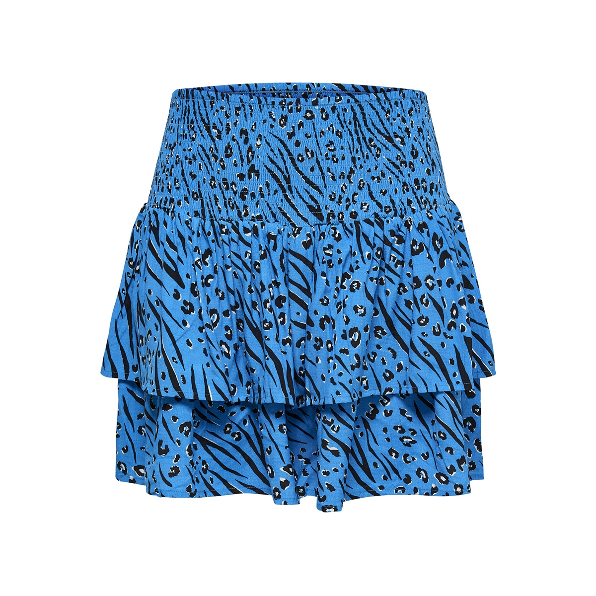 onlmuni mini skirt wvn 15178573 only rok brilliant blue/leo/zebra