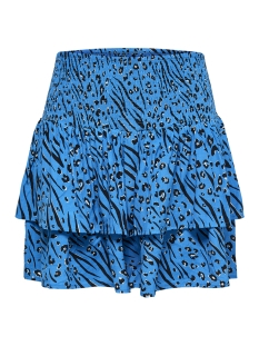 Only Rok onlMUNI MINI SKIRT WVN 15178573 Brilliant Blue/LEO/ZEBRA