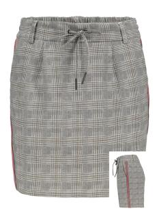 onlpoptrash checked panel skirt 15176009 only rok medium grey melange