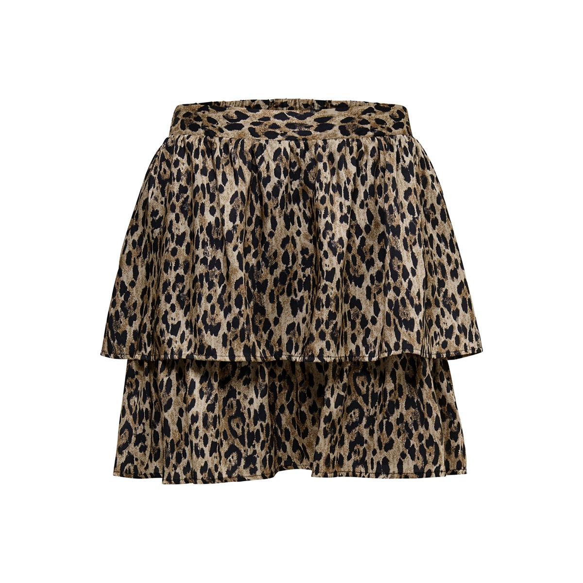 onlkarla short aop skirt tlr 15180770 only rok black/leo