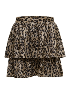 Only Rok onlKARLA SHORT AOP SKIRT TLR 15180770 Black/LEO