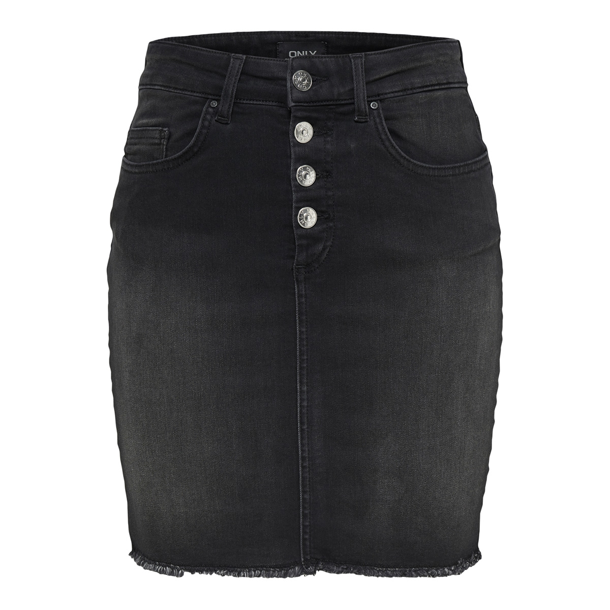 onlblush hw button dnm skirt rea109 15179113 only rok black denim