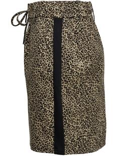 onlpoptrash leo mix panel skirt 15181259 only rok black/leo with b