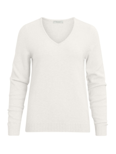 Vila Trui VIRIL L/S V-NECK KNIT TOP-FAV 14043283 White Alyssum