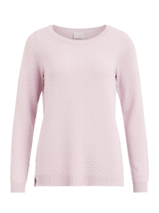 visarafina knit top - fav 14045222 vila trui lilac snow