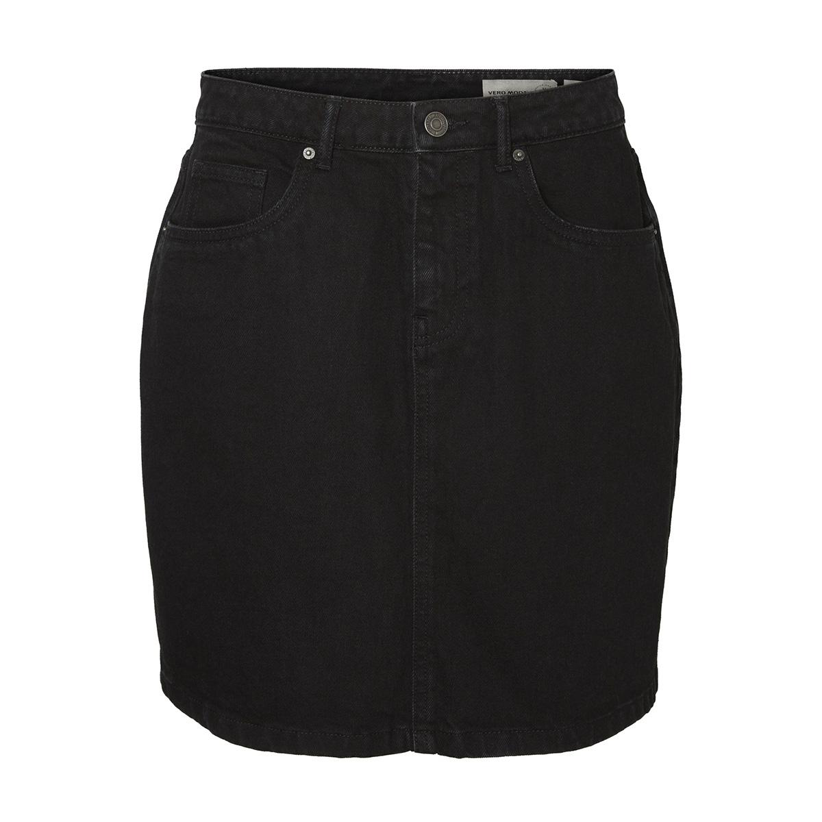 vmkathy hr short denim skirt boo ci 10208040 vero moda rok black
