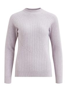 vigrada knit rib l/s top 14048136 vila trui iris/white al