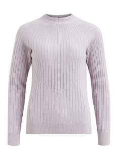 Vila Trui VIGRADA KNIT RIB L/S TOP 14048136 Iris/WHITE AL