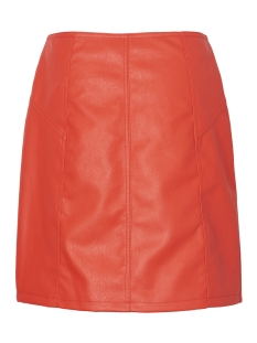 vmsiva connery faux leather hw skirt 10209386 vero moda rok fiery red