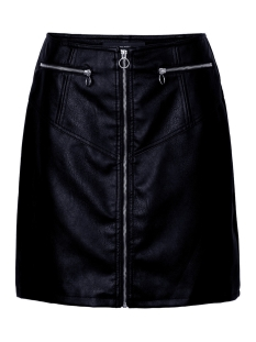 vmsiva connery faux leather hw skirt 10209386 vero moda rok night sky
