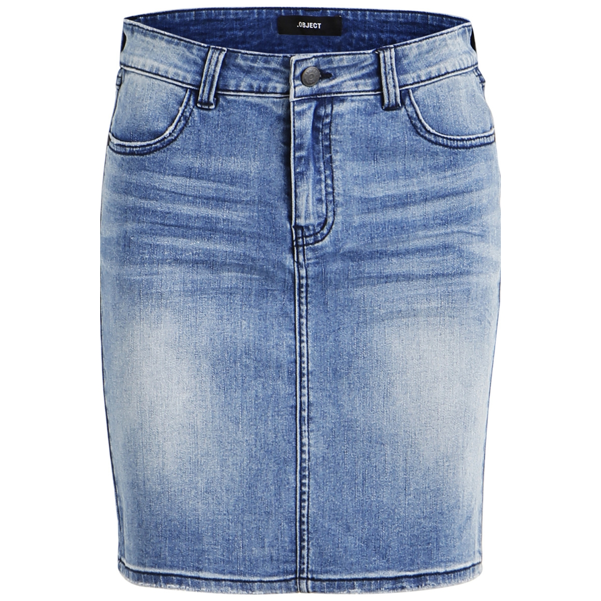 objwin new denim skirt noos 23028503 object rok medium blue denim
