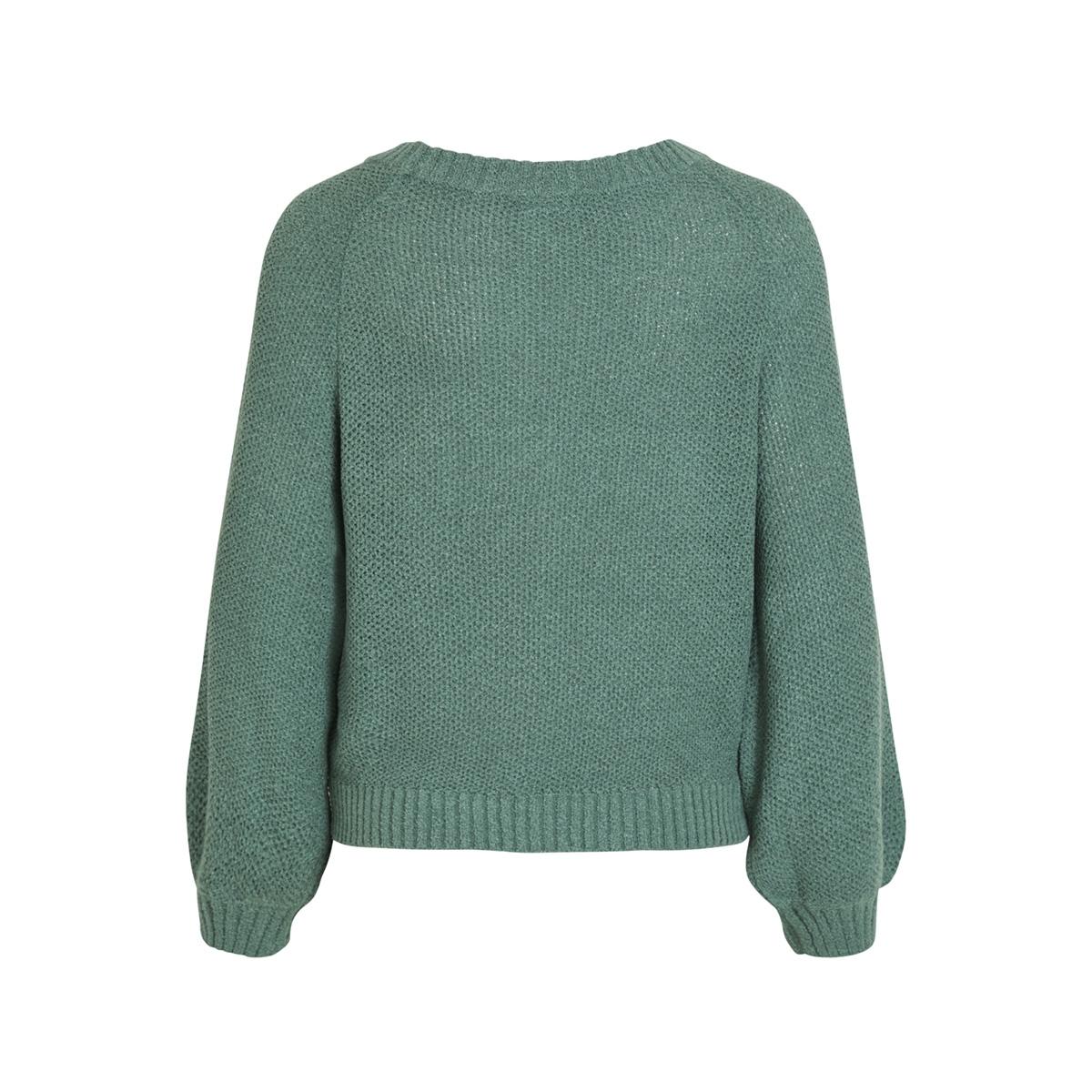 objkatri l/s knit pullover 101 23028738 object trui blue spruce