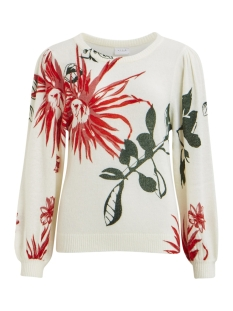 Vila Trui VILIANE KNIT PRINT L/S TOP 14050410 White Alyssum/W. ACCENT
