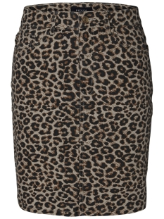 pcsky hw aop skirt-jj 17096917 pieces rok peyote/leopard pr