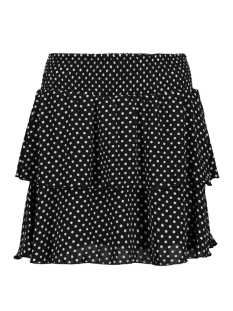 Only Rok onlPHOEBE SHORT SKIRT WVN 15172556 Black/WHITE DOTS