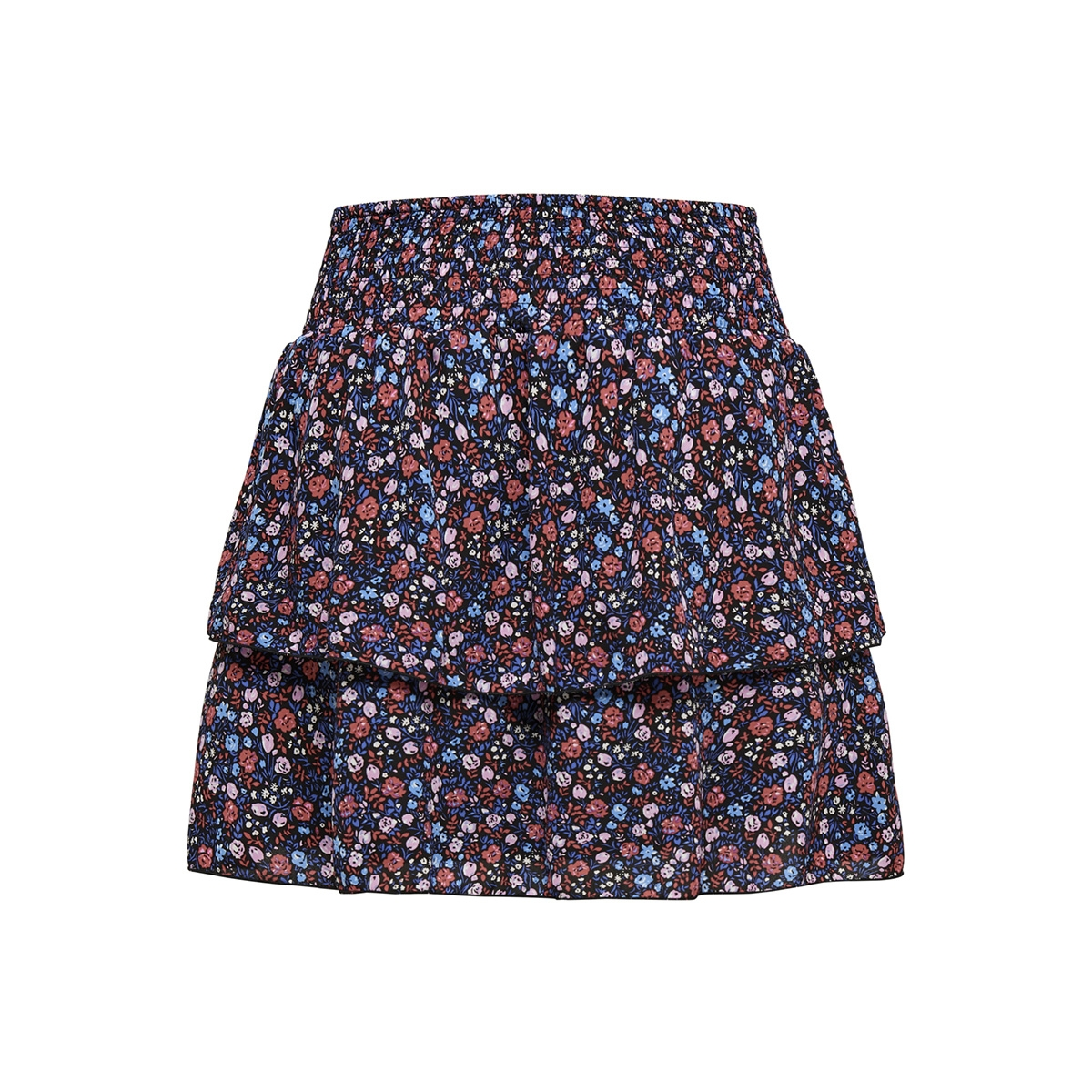 onlphoebe short skirt wvn 15172556 only rok black/ditsy flower