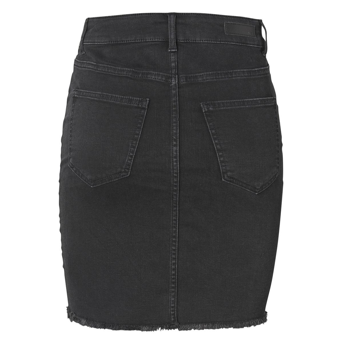 pcaia mw dnm skirt bl613-vi noos 17094853 pieces rok black denim
