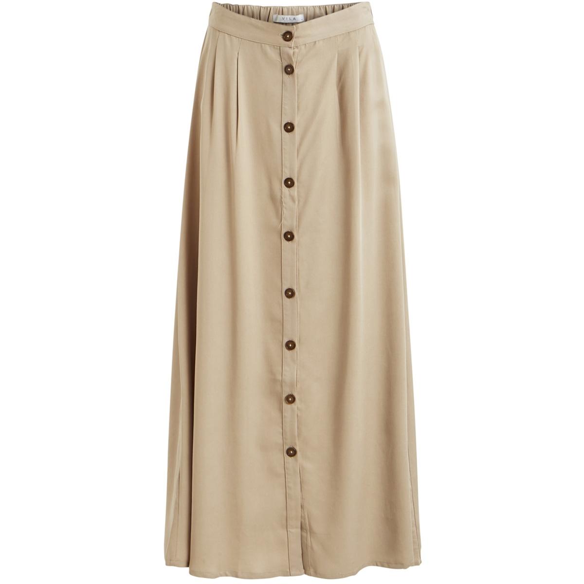 vigiliana hw maxi skirt 14051591 vila rok soft camel