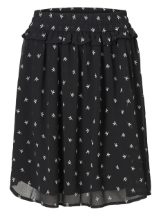 Pieces Rok PCBAHARA MW SKIRT 17094777 Black/EMBROIDERY