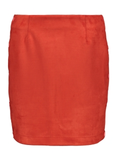 Vero Moda Rok VMBELLE NW SHORT FAUX SUEDE SKIRT 10211152 Fiery Red
