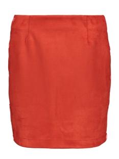 vmbelle nw short faux suede skirt 10211152 vero moda rok fiery red