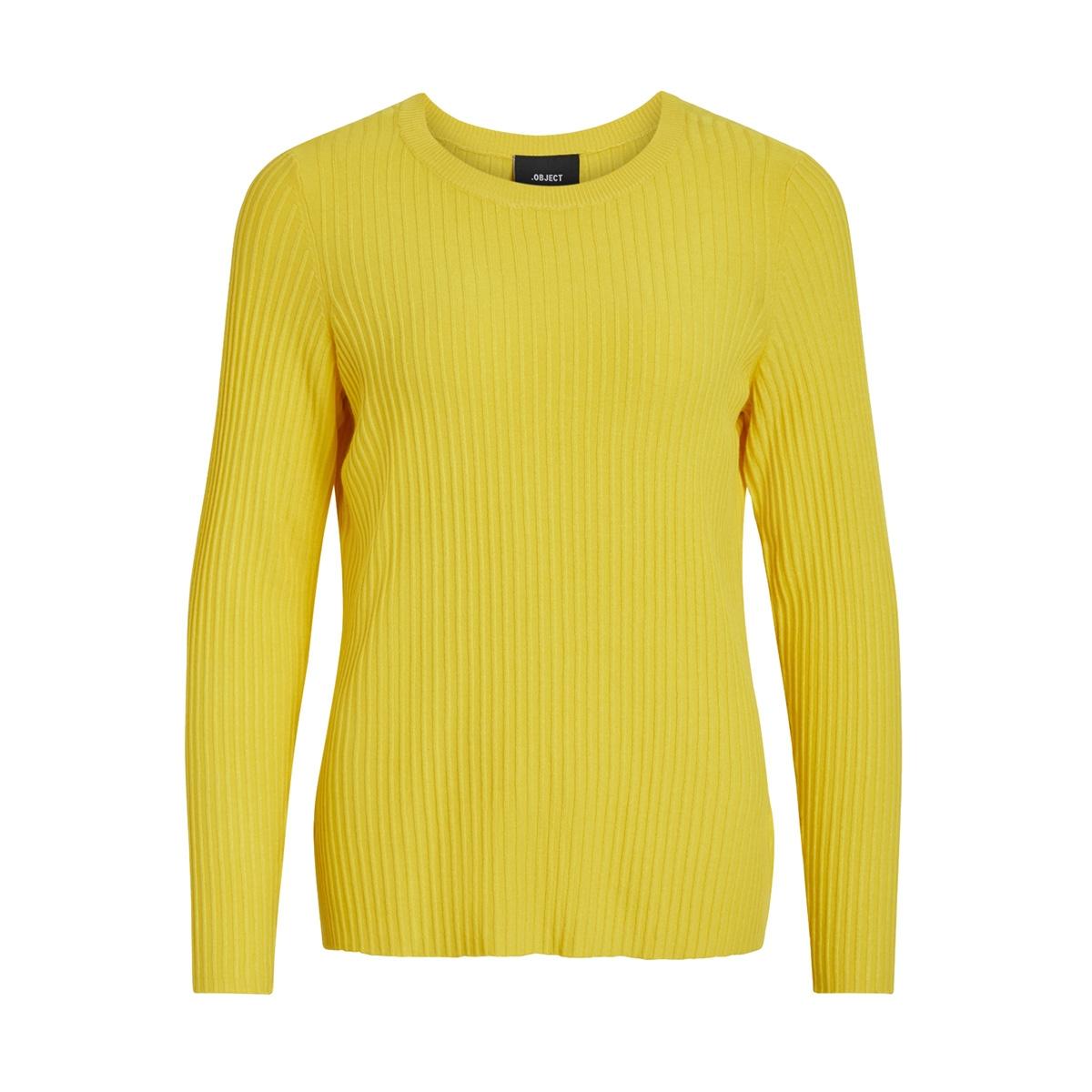 objfrida l/s knit pullover pb5 23029038 object trui maize