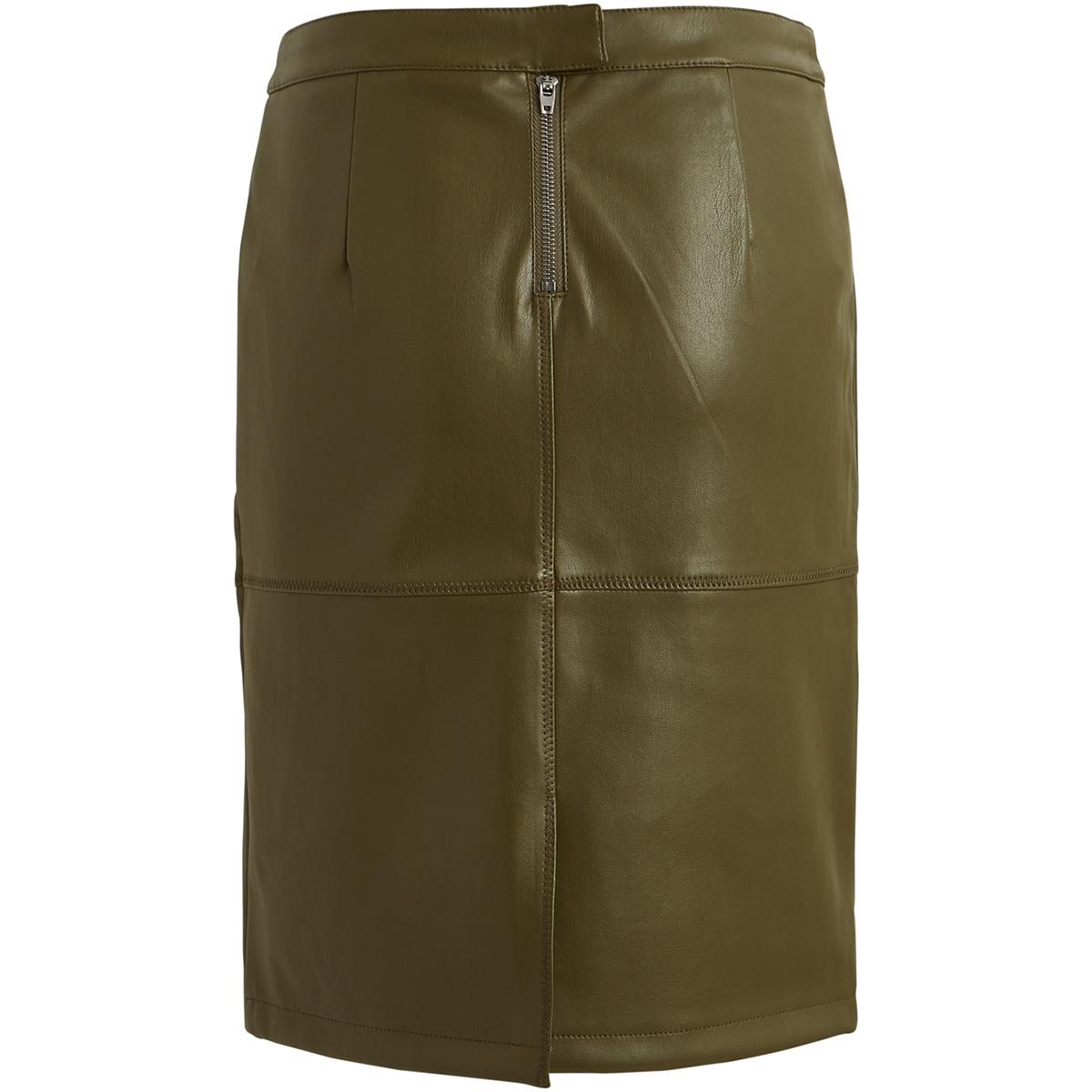 vipen new skirt-fav 14043497 vila rok dark olive