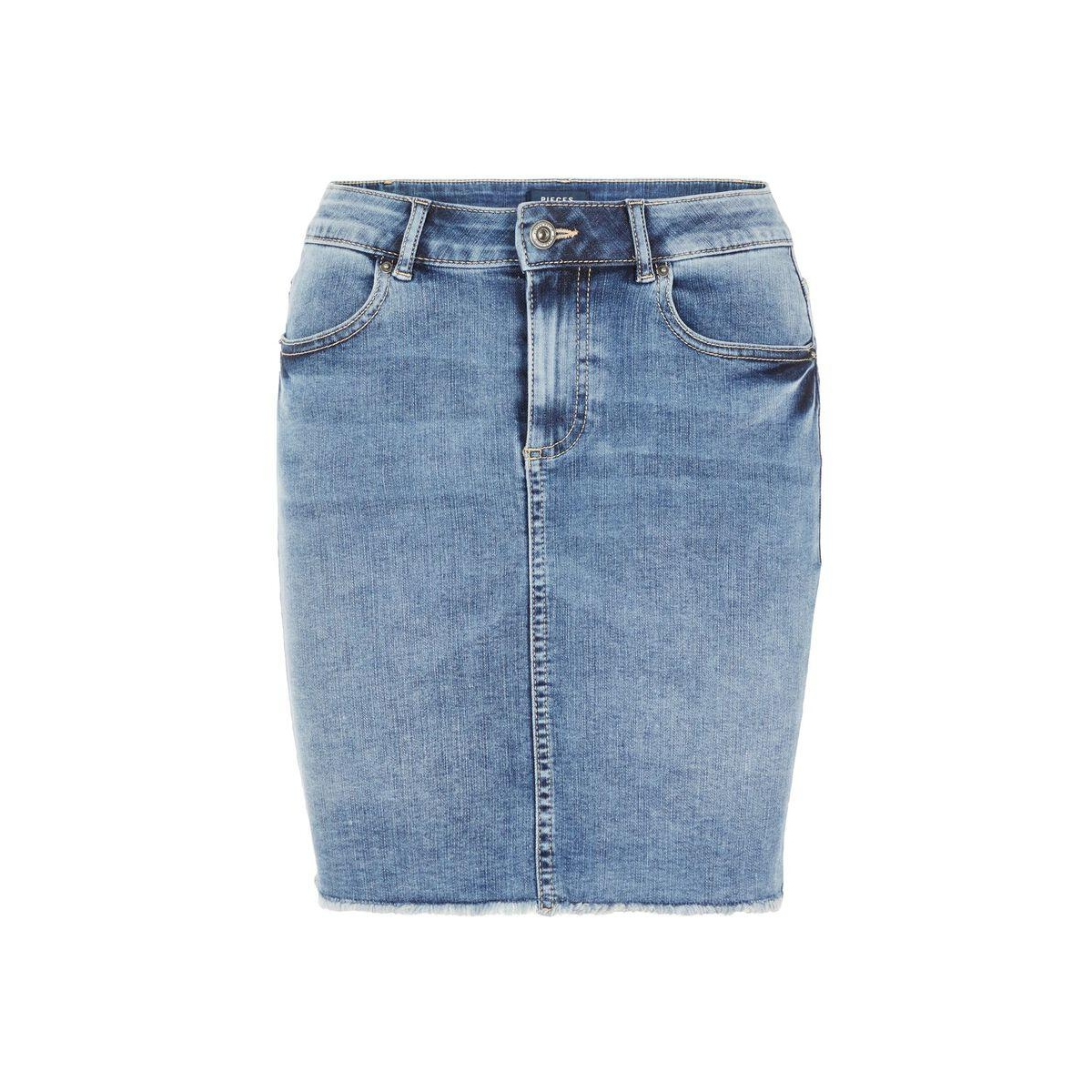 pcaia mw dnm skirt lb111-vi/noos 17094854 pieces rok light blue denim