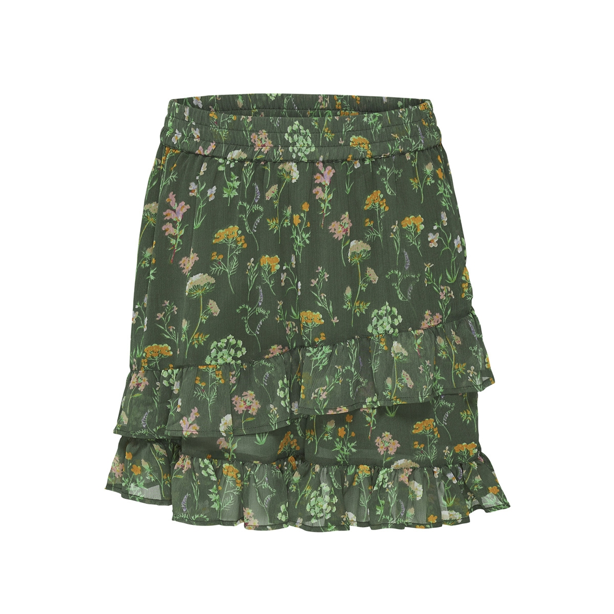 jdyjennifer frill skirt wvn 15173936 jacqueline de yong rok thyme/wildflower