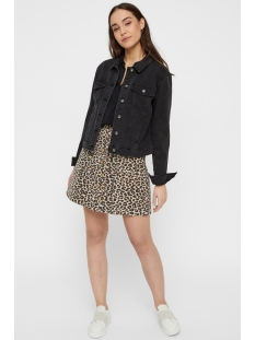 pcsky hw button skirt-jj 17097263 pieces rok peyote/leopard