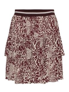 vmamsterdam rib  layer short skirt 10218213 vero moda rok cream tan/dolly