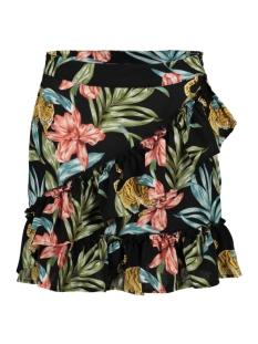 onlnova lux wrap skirt aop 5 wvn 15178514 only rok black/jungle zoo