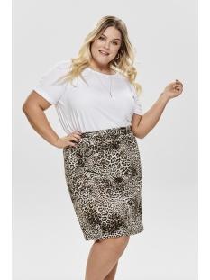 cardonna skirt 15176981 only carmakoma rok black/leopard