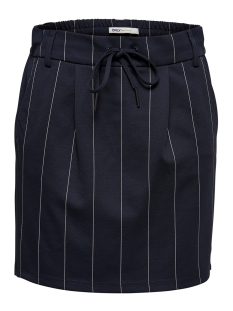 Only Rok ONLPOPTRASH TEMPO STRIPE SKIRT PNT 15179481 Night Sky/W. WHITE