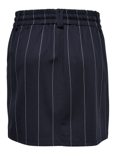 onlpoptrash tempo stripe skirt pnt 15179481 only rok night sky/w. white