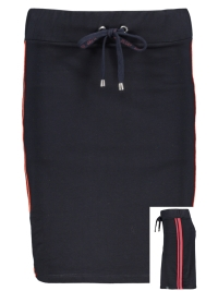 13c2a8ab48b5ab -40% Zoso Rok SKIRT WITH PIPING SR1901 NAVY ORANGE RED