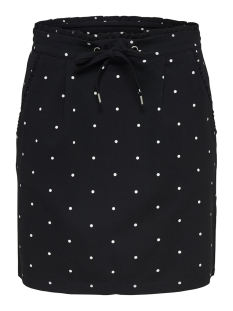 Jacqueline de Yong Rok JDYCATIA TREATS AOP SKIRT JRS 15177203 Black/FEW DOTS