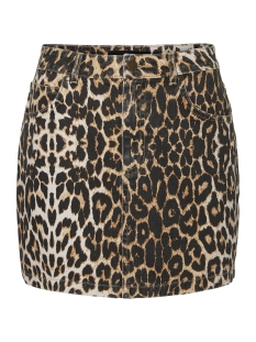 Vero Moda Rok VMLEONOR MR SHORT SKIRT 10218605 Snow White/LEOPARD