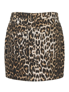 vmleonor mr short skirt 10218605 vero moda rok snow white/leopard