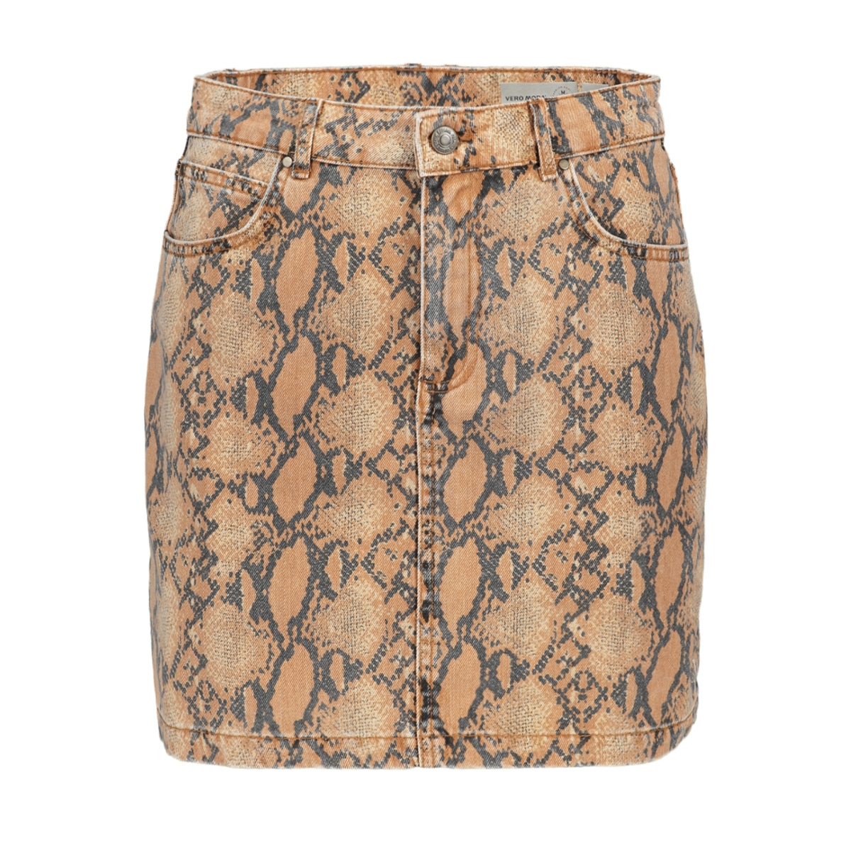 vmleonor mr short skirt 10218605 vero moda rok snow white/snake