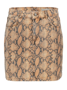 Vero Moda Rok VMLEONOR MR SHORT SKIRT 10218605 Snow White/SNAKE