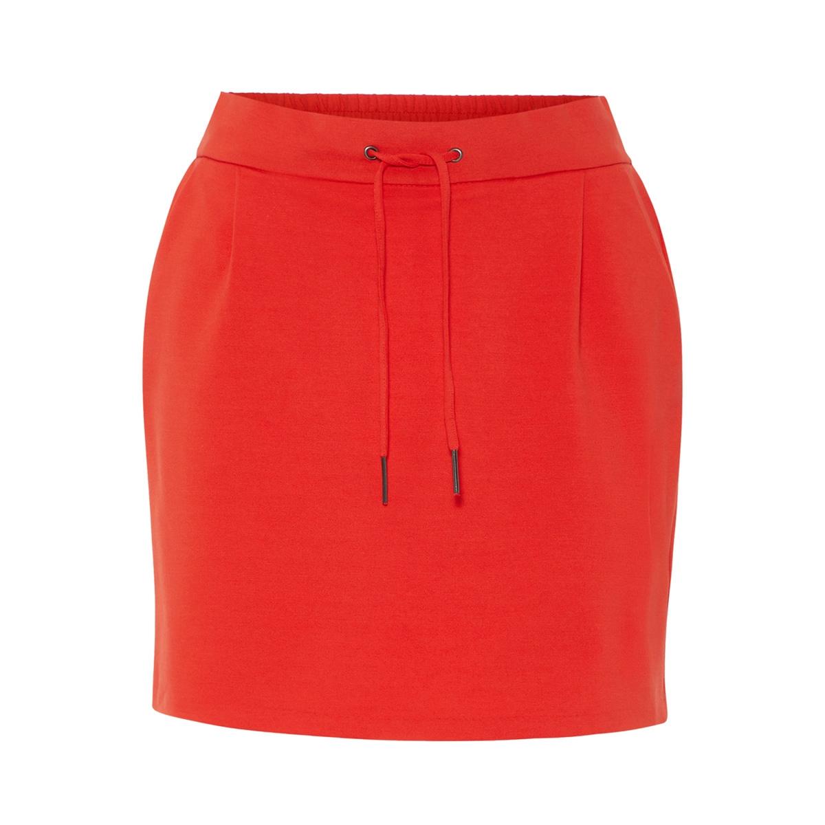 vmeva mr short skirt color 10213055 vero moda rok fiery red