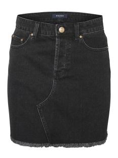 pccaya mw raw edge skirt bl614-vi 17096686 pieces rok black denim