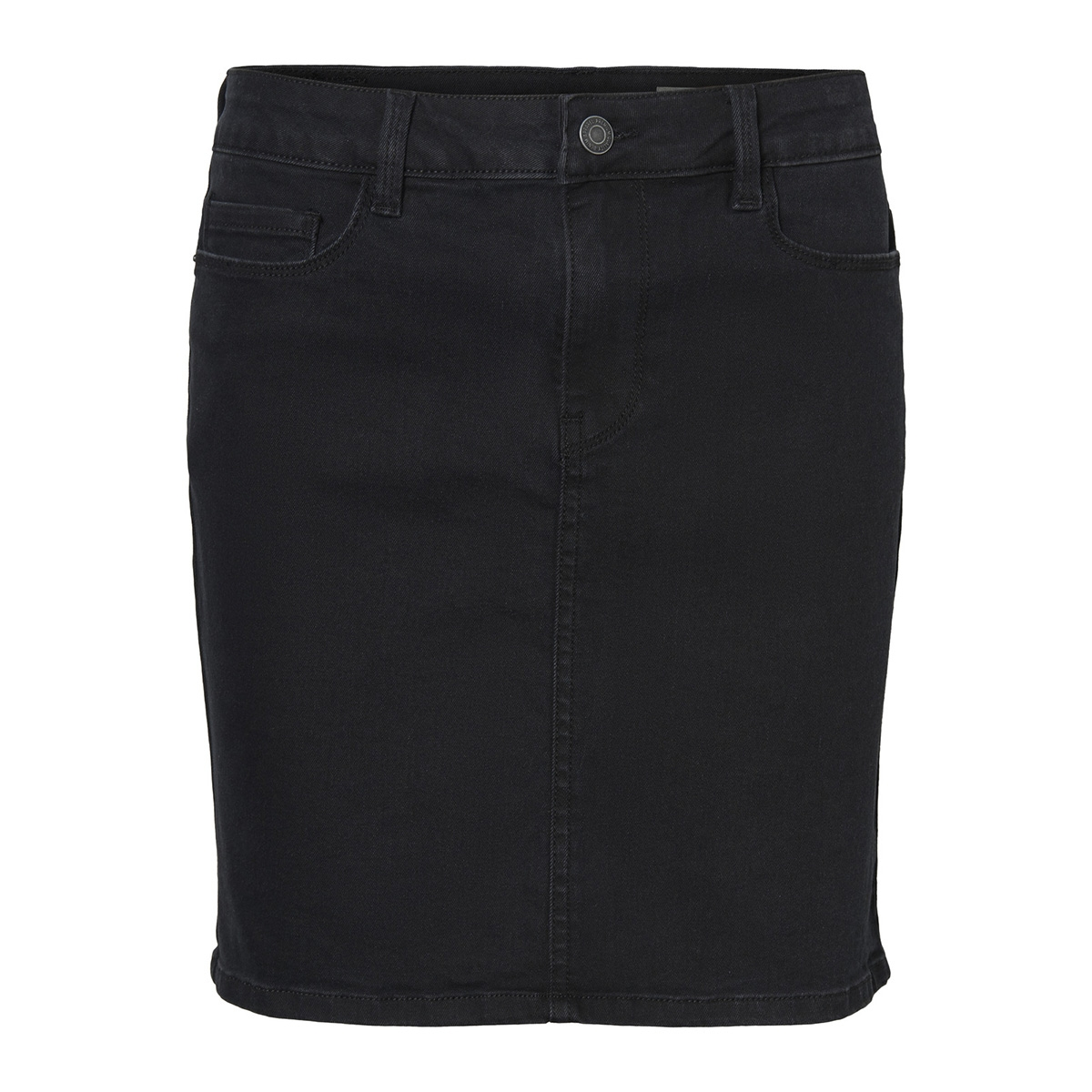 vmhot seven mr short skirt denim 10209954 vero moda rok black