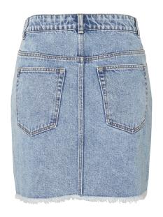 pccaya mw raw edge skirt lb120-vi 17096684 pieces rok light blue denim