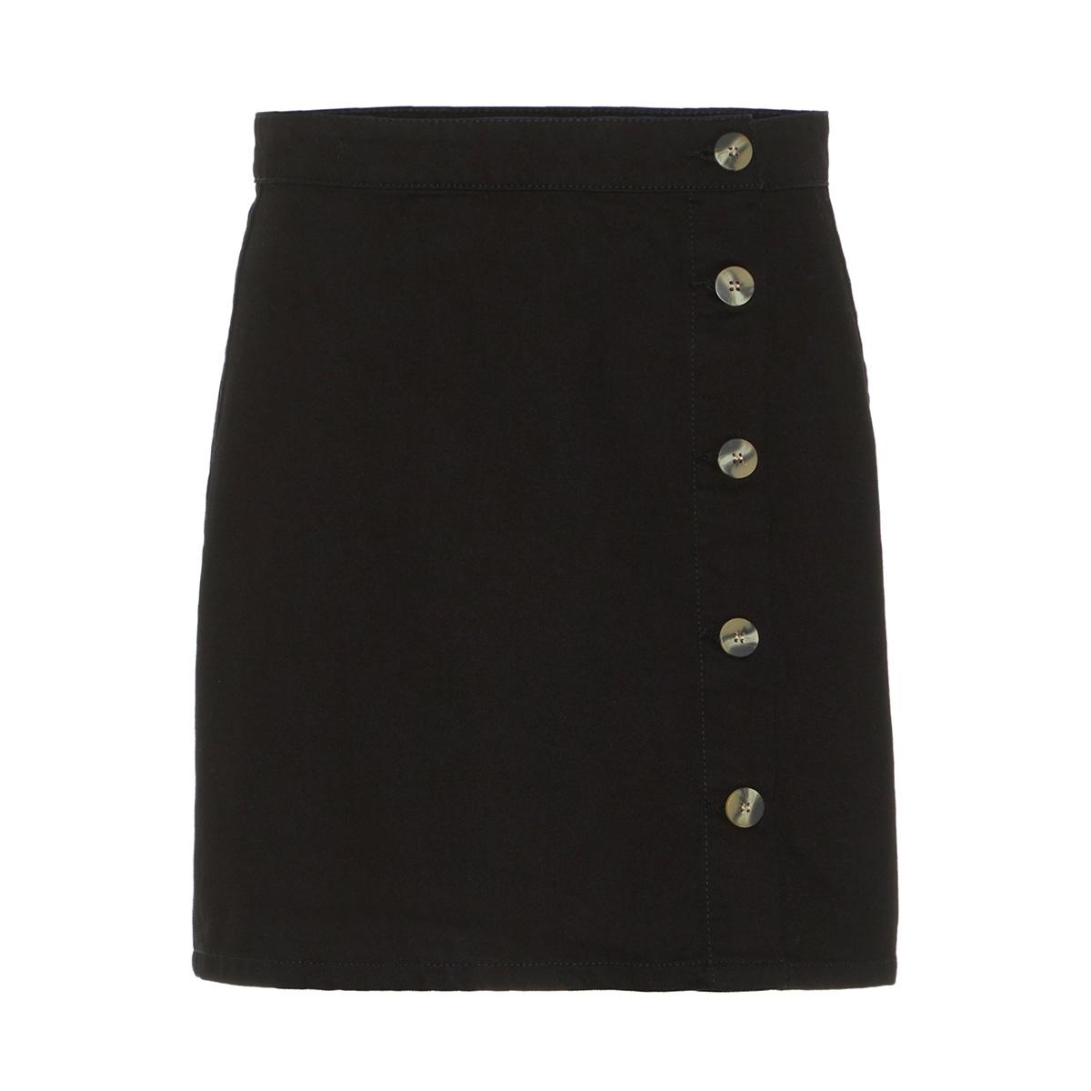 pcemmelie mw button skirt bl620-ar 17098265 pieces rok black